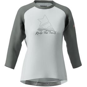 Zimtstern PureFlowz Camiseta Manga 3/4 Mujer, blanco/gris
